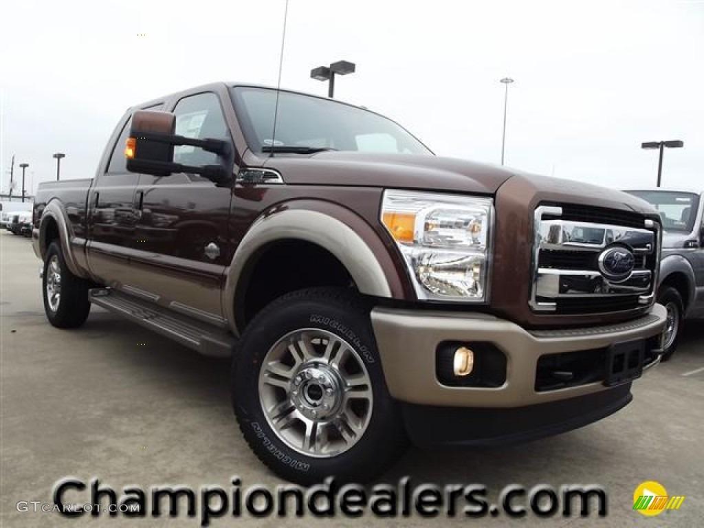 2012 F250 Super Duty King Ranch Crew Cab 4x4 - Golden Bronze Metallic / Chaparral Leather photo #1