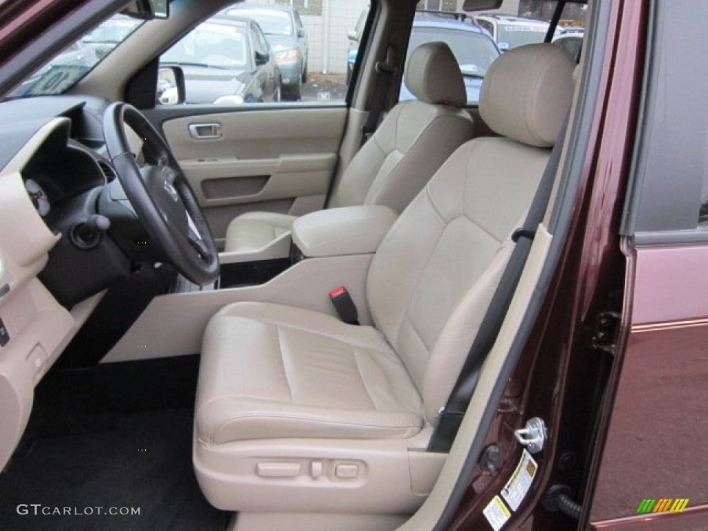 Beige Interior 2010 Honda Pilot Ex L 4wd Photo 58434228