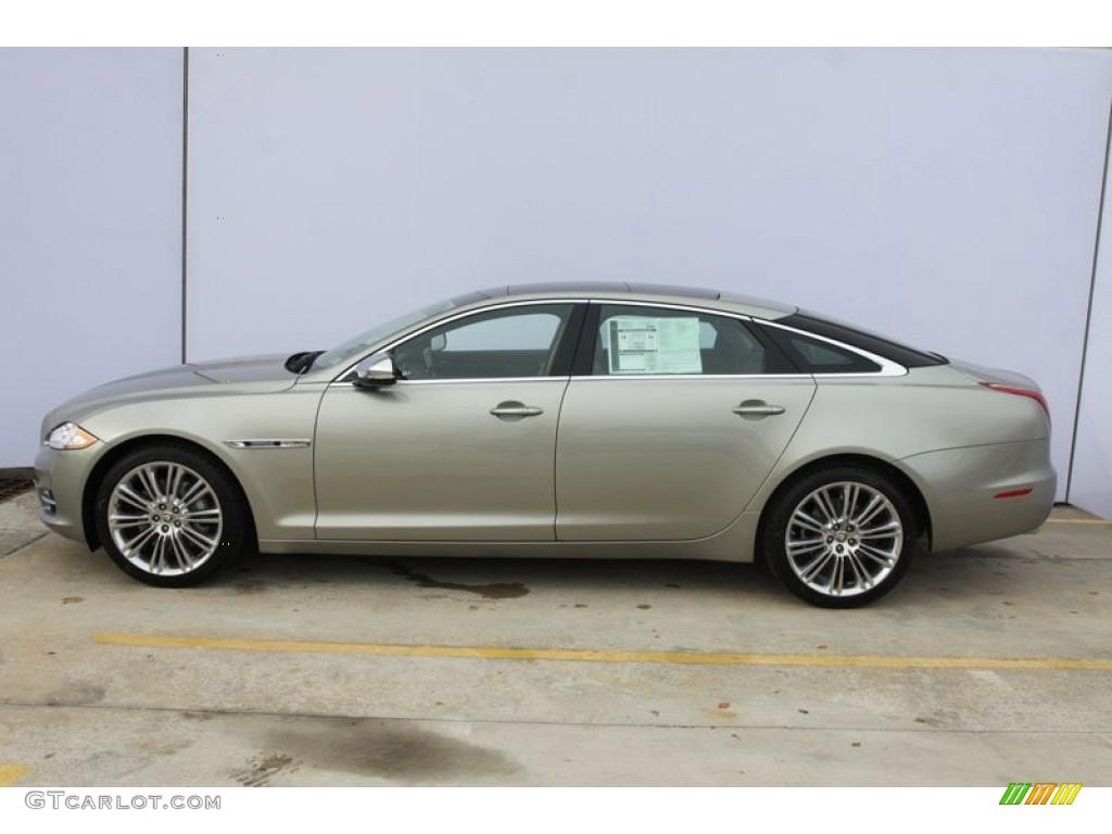 Cashmere metallic 2012 jaguar xj xjl portfolio exterior for Jaguar xj exterior
