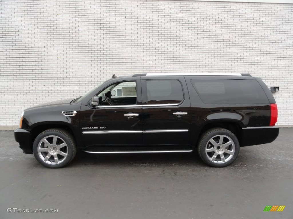 black raven 2012 cadillac escalade esv luxury awd exterior. Black Bedroom Furniture Sets. Home Design Ideas