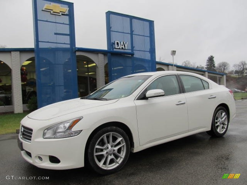 2009 Nissan Maxima Sv >> 2009 Winter Frost White Nissan Maxima 3.5 SV #58447626 | GTCarLot.com - Car Color Galleries