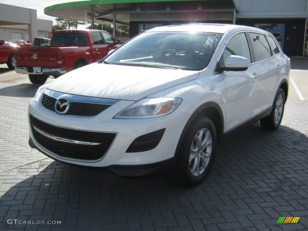 2012 crystal white pearl mica mazda cx 9 touring 58447853. Black Bedroom Furniture Sets. Home Design Ideas