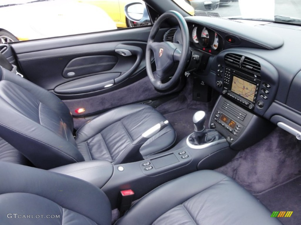 Metropol Blue Interior 2004 Porsche 911 Turbo Cabriolet