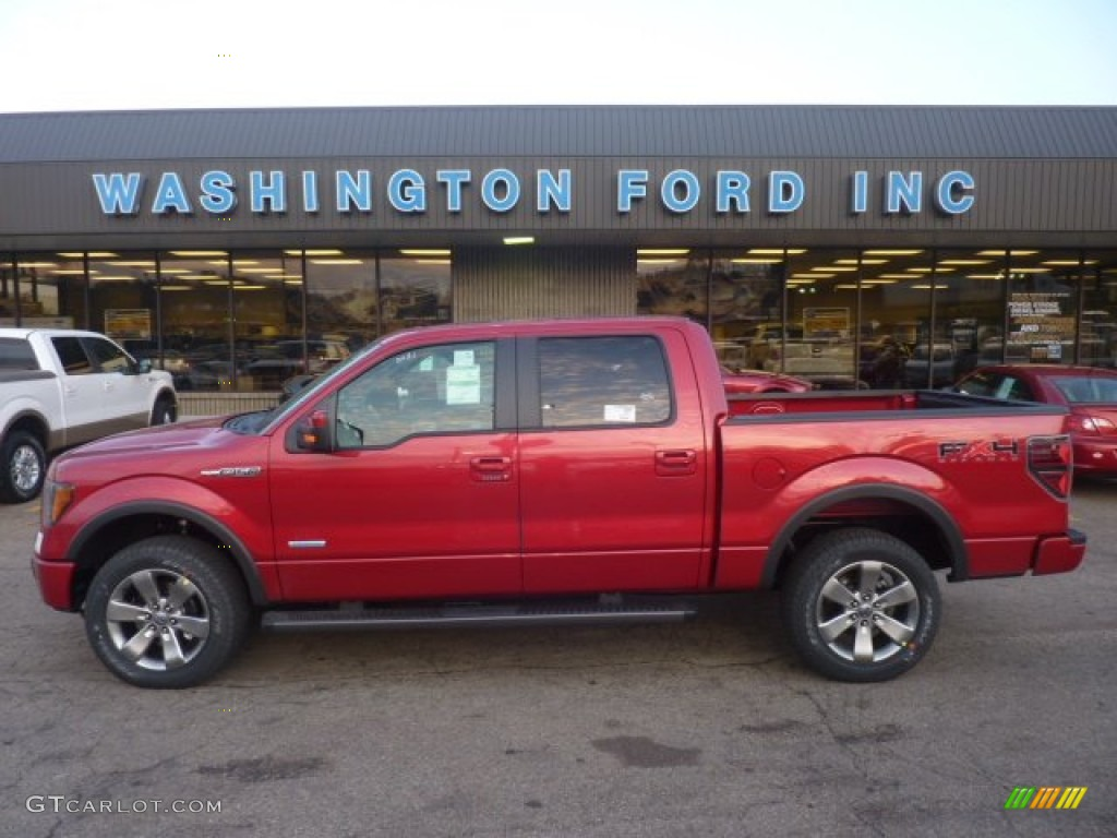 2011 f150 fx4 supercrew 4x4 red candy metallic black photo 1