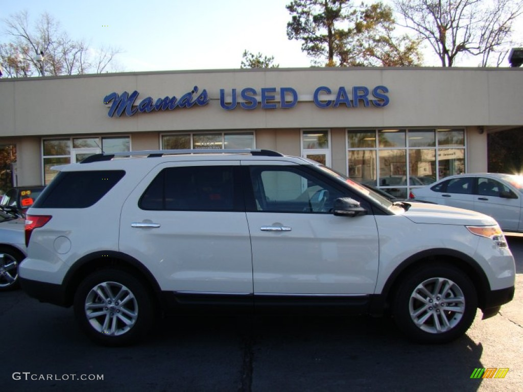 2011 Explorer XLT - White Suede / Medium Light Stone photo #1