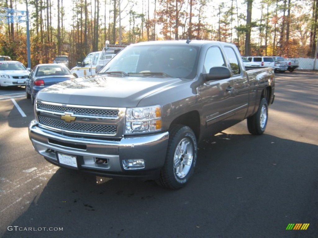 2012 Silverado 1500 LT Extended Cab 4x4 - Mocha Steel Metallic / Light Titanium/Dark Titanium photo #1