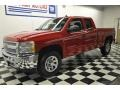 2012 Victory Red Chevrolet Silverado 1500 LS Extended Cab 4x4  photo #1