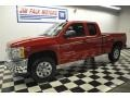 2012 Victory Red Chevrolet Silverado 1500 LS Extended Cab 4x4  photo #2