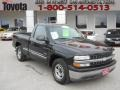 2002 Onyx Black Chevrolet Silverado 1500 Work Truck Regular Cab  photo #1