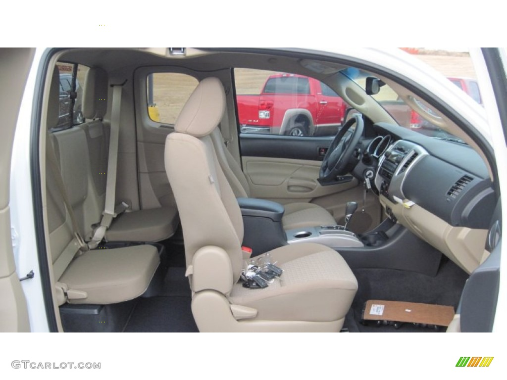 sand beige interior 2012 toyota tacoma sr5 prerunner. Black Bedroom Furniture Sets. Home Design Ideas