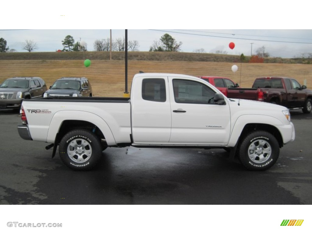 2012 Tacoma V6 TRD Prerunner Access cab - Super White / Graphite photo ...