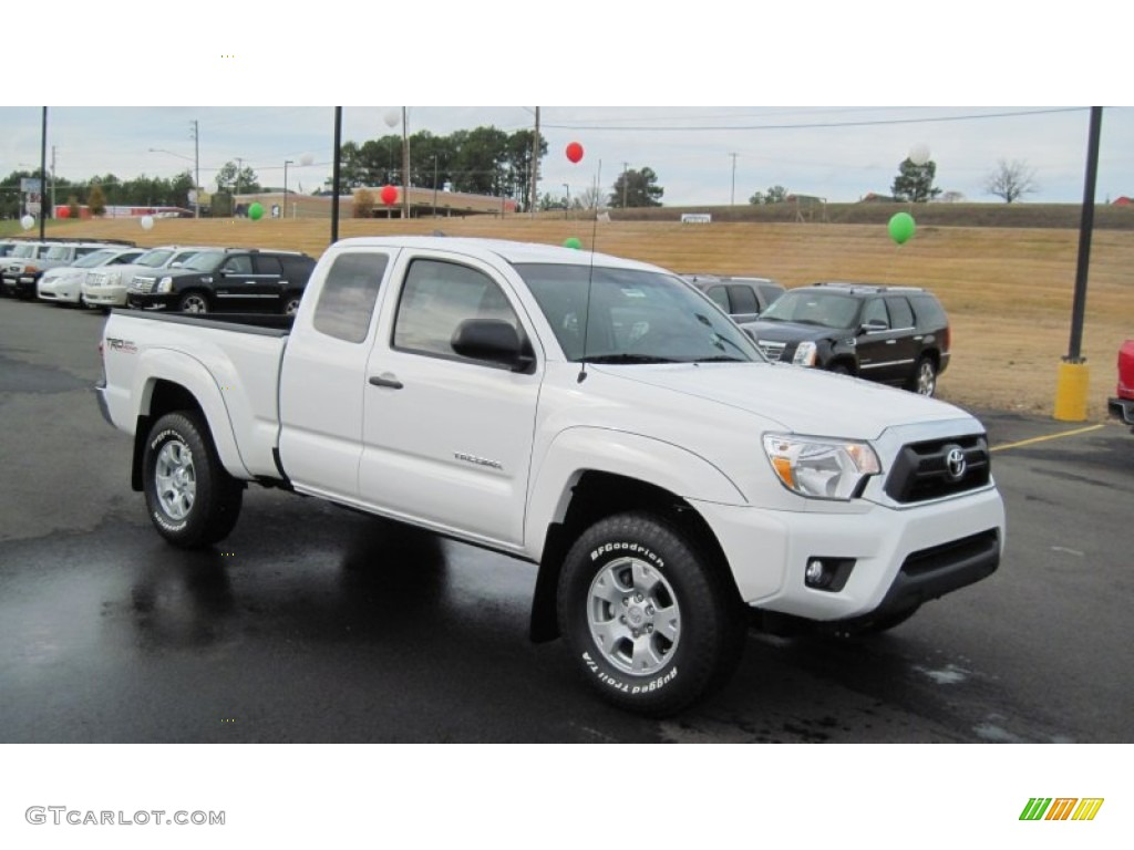 super white 2012 toyota tacoma v6 trd prerunner access cab exterior photo 58518530. Black Bedroom Furniture Sets. Home Design Ideas