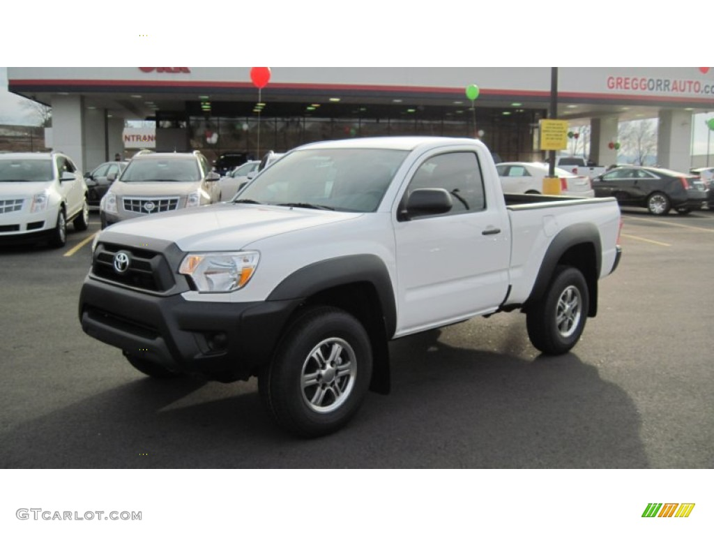 2012 super white toyota tacoma regular cab 4x4 58501623 car color galleries. Black Bedroom Furniture Sets. Home Design Ideas