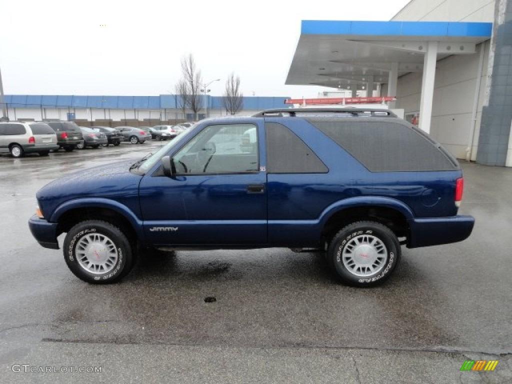 Indigo blue metallic 2001 gmc jimmy sls 4x4 exterior photo 58531112