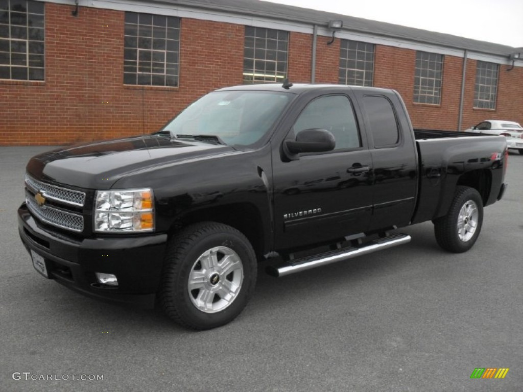 2012 black chevrolet silverado 1500 ltz extended cab 4x4 58501790 car color. Black Bedroom Furniture Sets. Home Design Ideas