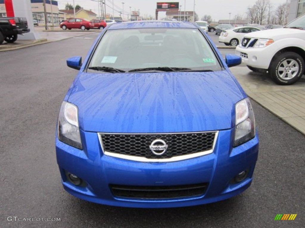 2012 metallic blue nissan sentra 2 0 sr special edition 58501782 photo 2 car. Black Bedroom Furniture Sets. Home Design Ideas