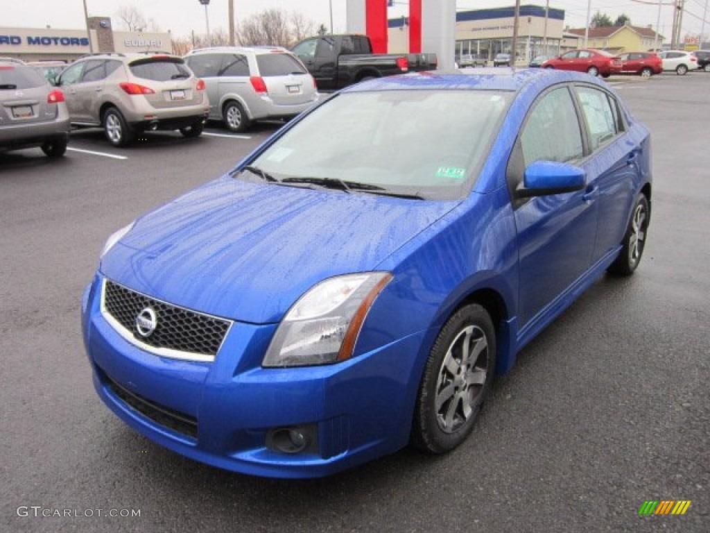 2012 sentra 2 0 sr special edition metallic blue beige photo 3