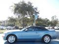 2007 Windveil Blue Metallic Ford Mustang GT Premium Convertible  photo #2