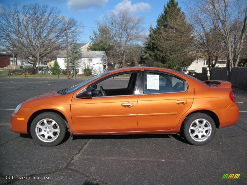 2005 orange blast pearlcoat dodge neon sxt #58555763 | gtcarlot