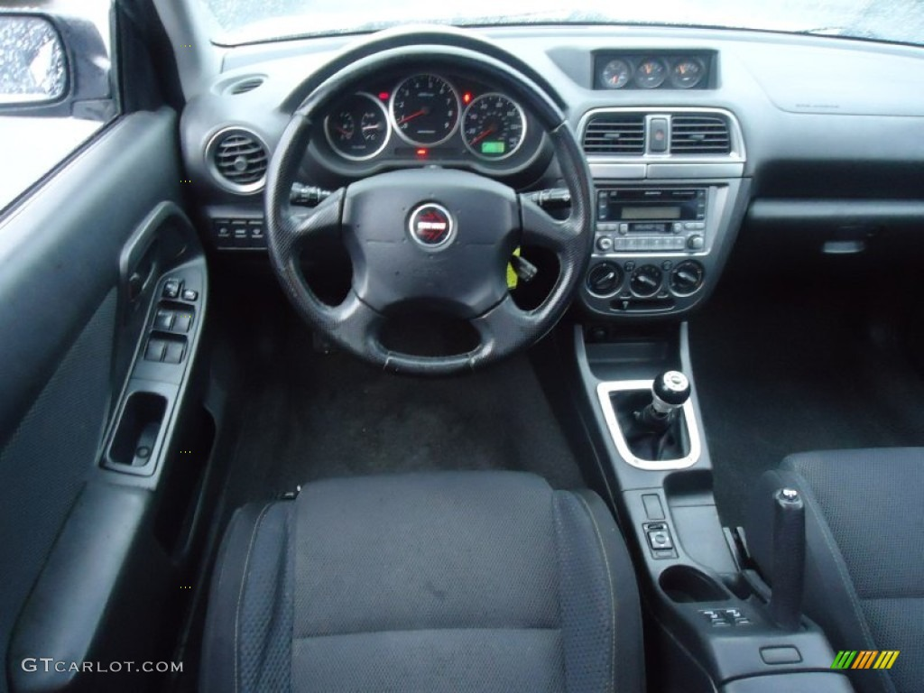 2004 Subaru Impreza Wrx Sedan Dark Gray Dashboard Photo