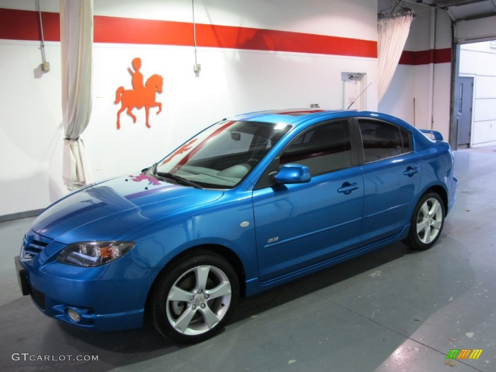 2006 winning blue metallic mazda mazda3 s grand touring sedan 58555128 car. Black Bedroom Furniture Sets. Home Design Ideas