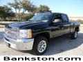 2012 Black Chevrolet Silverado 1500 LS Extended Cab  photo #1