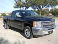 2012 Black Chevrolet Silverado 1500 LS Extended Cab  photo #2