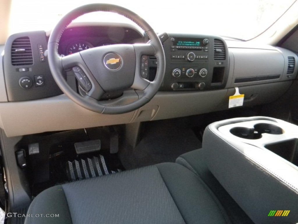 Dark Titanium Interior 2012 Chevrolet Silverado 1500 Ls Extended Cab Photo 58596433