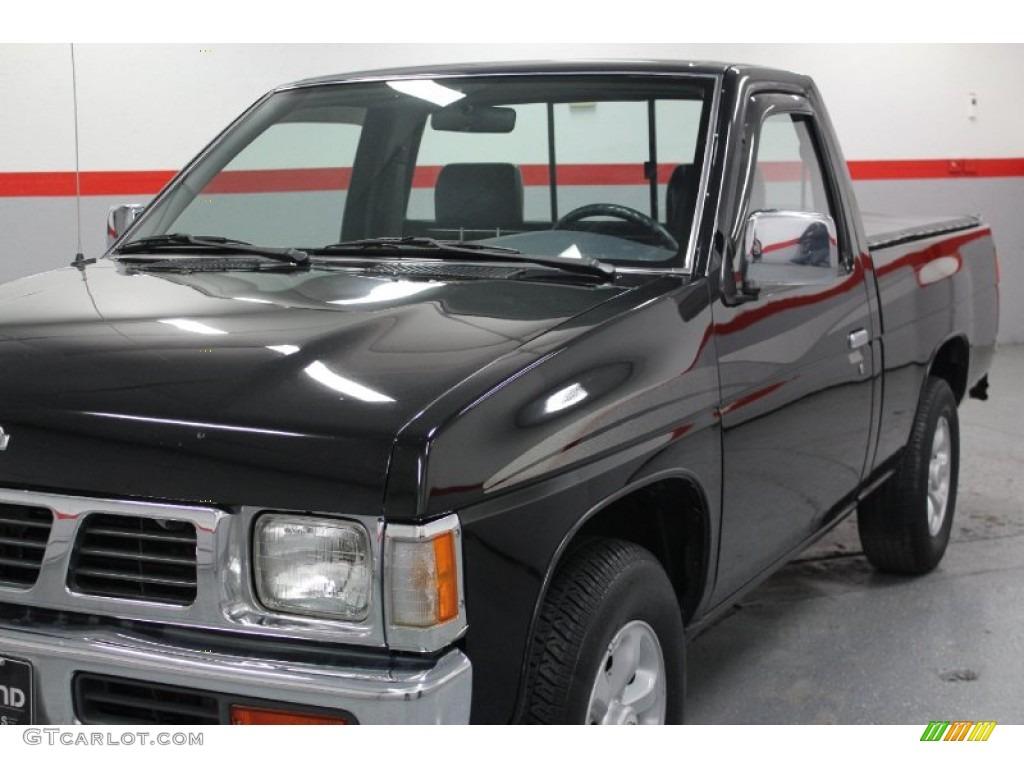 1997 super black nissan hardbody truck xe regular cab 58555624 photo 10 car. Black Bedroom Furniture Sets. Home Design Ideas
