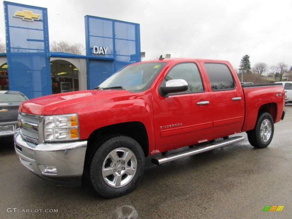 2012 Silverado 1500 LT Crew Cab 4x4 - Victory Red / Light Cashmere/Dark Cashmere photo #1