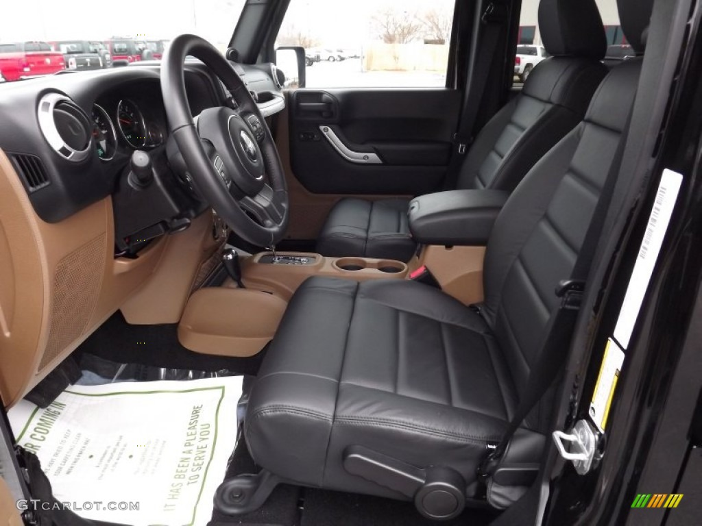 Black Dark Saddle Interior 2012 Jeep Wrangler Unlimited Sahara 4x4 Photo 58626955