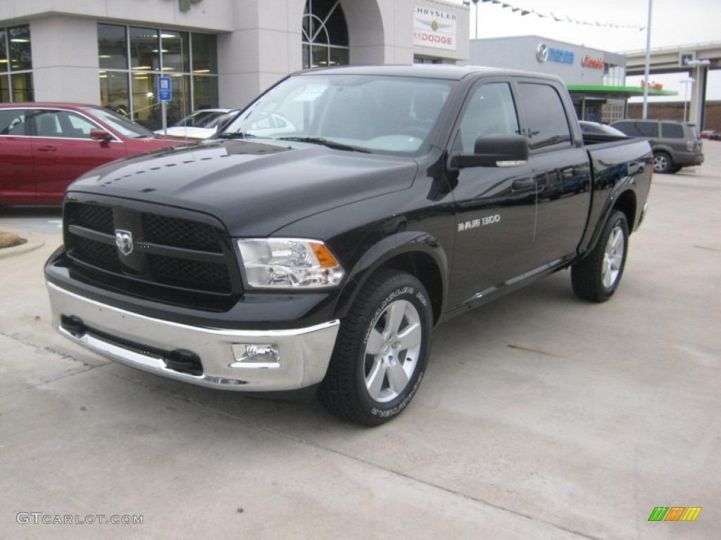 2012 Black Dodge Ram 1500 Outdoorsman Crew Cab 58608220 Gtcarlot Wheels