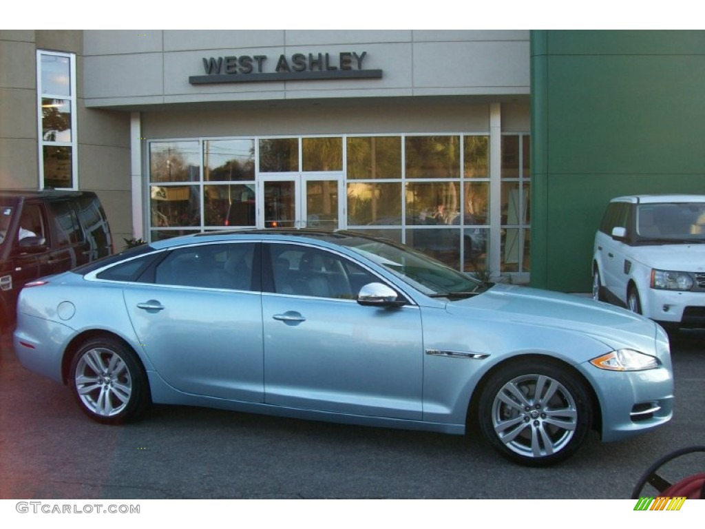 Crystal Blue Metallic Jaguar XJ