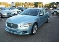 2012 Crystal Blue Metallic Jaguar XJ XJL Portfolio  photo #5