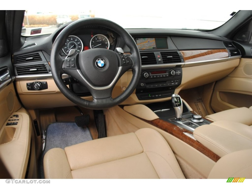 Sand Beige Interior 2008 Bmw X6 Xdrive35i Photo 58637144
