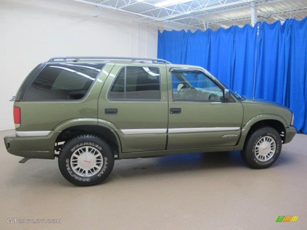 Medium sage green metallic 2001 gmc jimmy sle 4x4 exterior photo