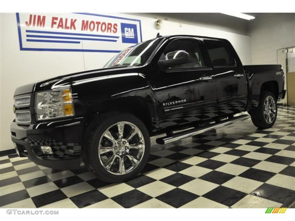 2012 Silverado 1500 LTZ Crew Cab 4x4 - Black / Light Titanium/Dark Titanium photo #1