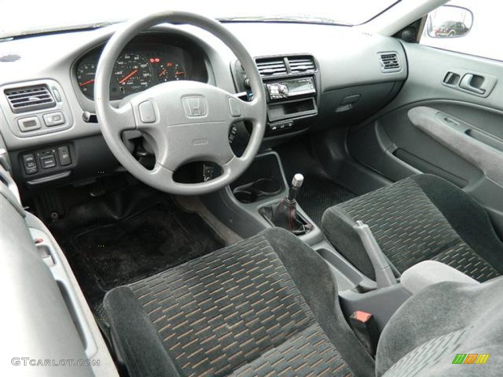 Dark Gray Interior 2000 Honda Civic Ex Coupe Photo