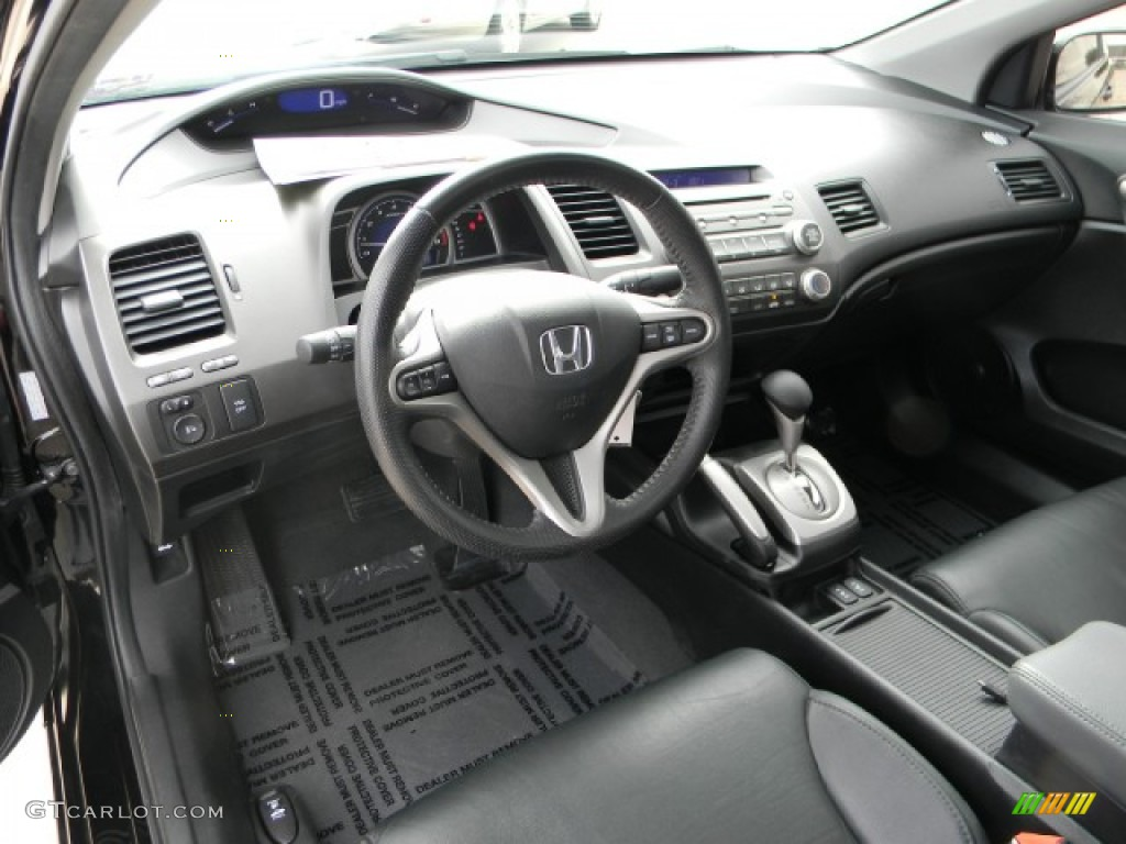 2010 Honda Civic Ex L Coupe Black Dashboard Photo