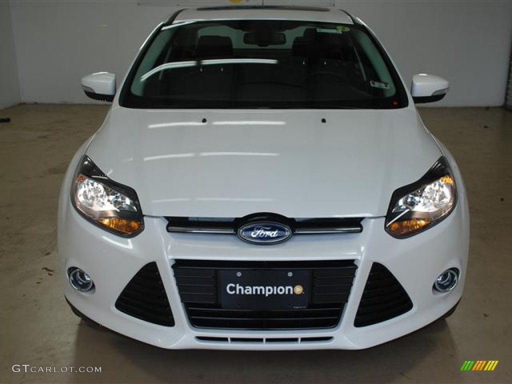2012 Focus Titanium Sedan - White Platinum Tricoat Metallic / Charcoal Black photo #2