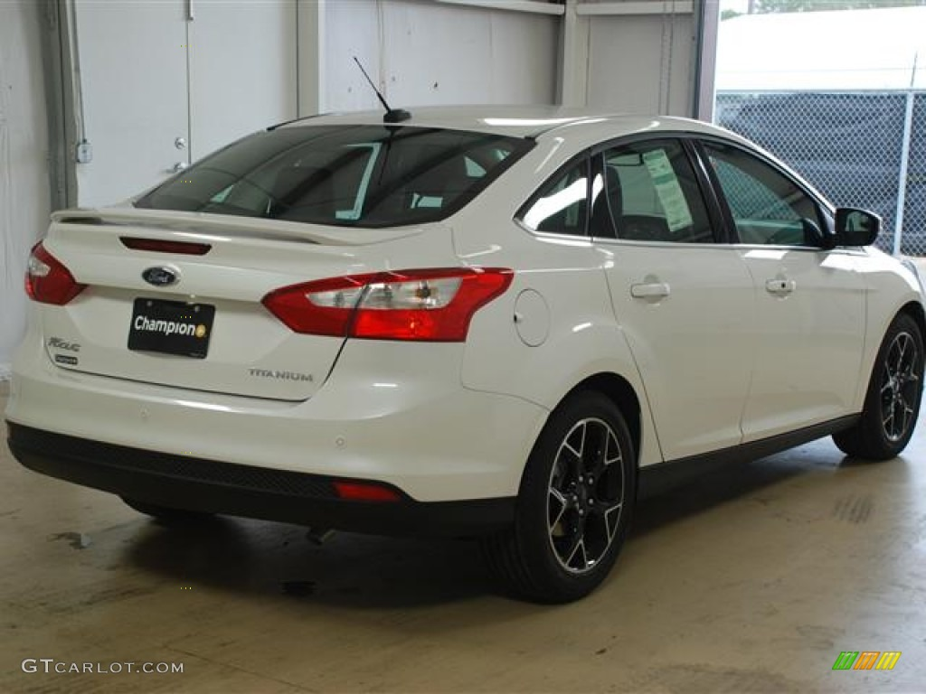 2012 Focus Titanium Sedan - White Platinum Tricoat Metallic / Charcoal Black photo #4