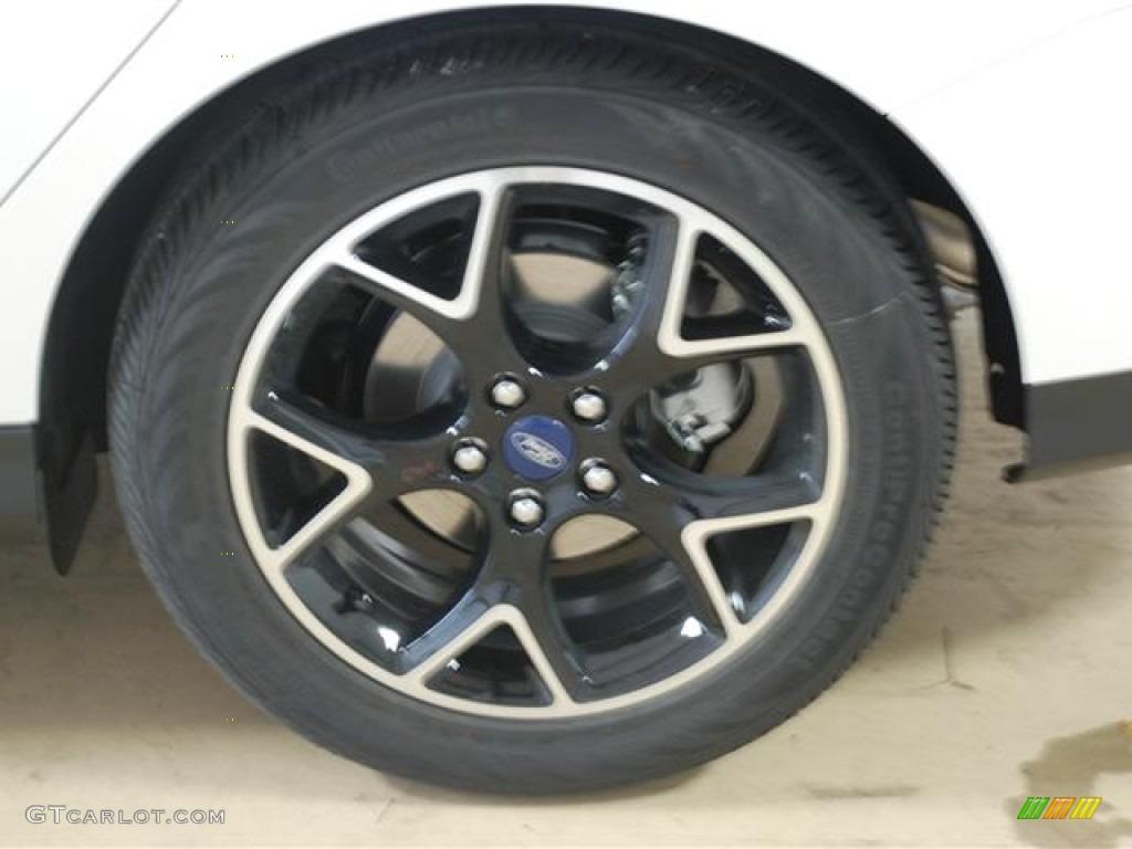 2012 Focus Titanium Sedan - White Platinum Tricoat Metallic / Charcoal Black photo #7