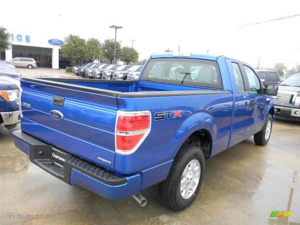 blue flame metallic 2012 ford f150 stx supercab exterior photo 58694441. Black Bedroom Furniture Sets. Home Design Ideas