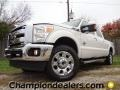 2012 White Platinum Metallic Tri-Coat Ford F250 Super Duty Lariat Crew Cab 4x4  photo #1
