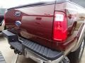 2012 Autumn Red Metallic Ford F250 Super Duty Lariat Crew Cab 4x4  photo #5