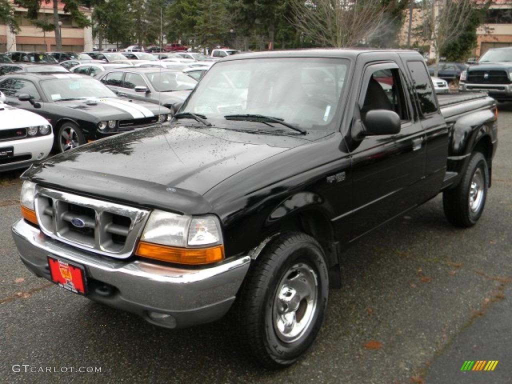 1999 black clearcoat ford ranger xlt extended cab 4x4 58684157 car color galleries. Black Bedroom Furniture Sets. Home Design Ideas