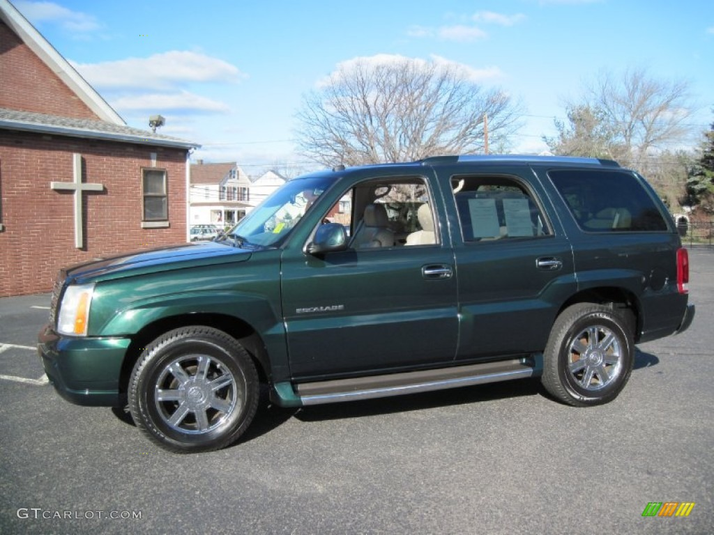 2002 escalade awd green envy shale photo 1