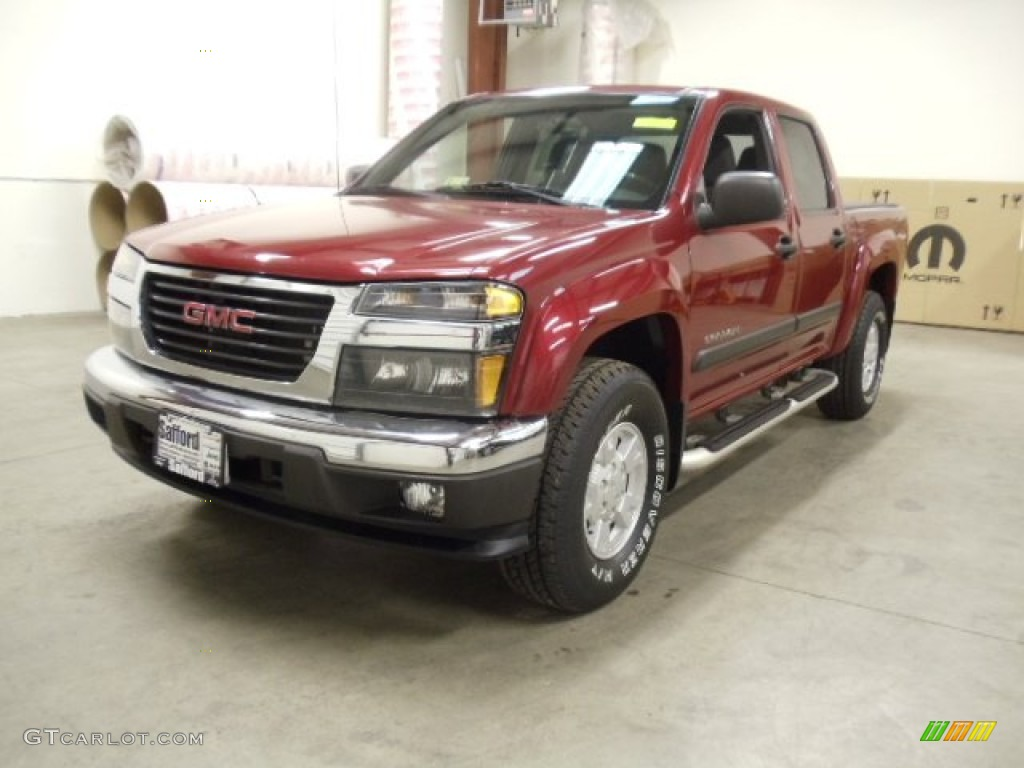 2005 cherry red metallic gmc canyon sle crew cab 4x4 58701001 car color galleries. Black Bedroom Furniture Sets. Home Design Ideas