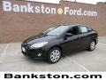 2012 Tuxedo Black Metallic Ford Focus SE Sedan  photo #1