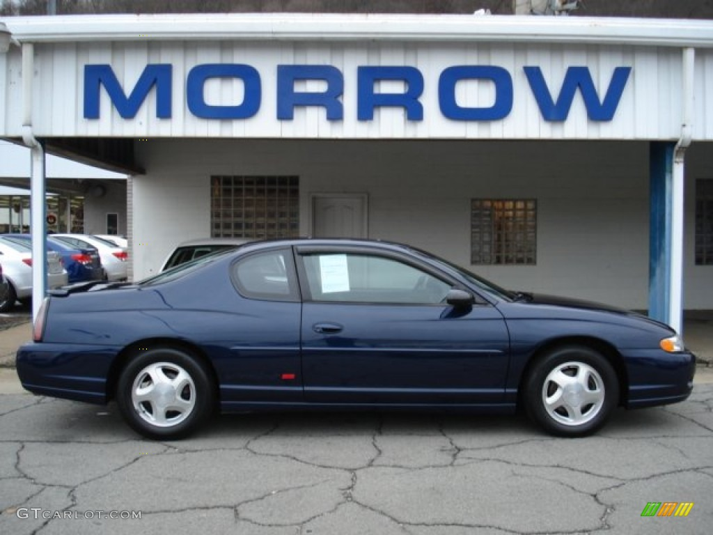 Navy blue metallic chevrolet monte carlo